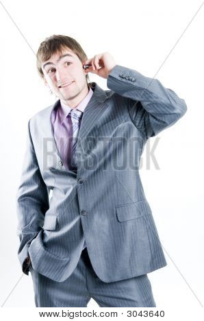 Businessman Calling On Mobile Phone