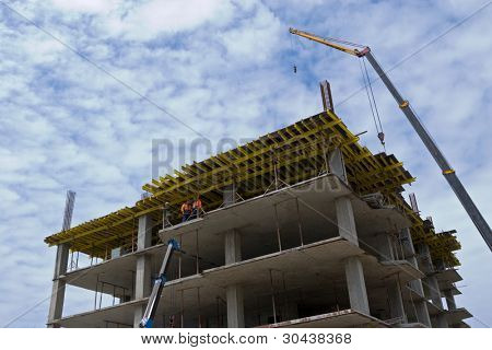 Construction of a new building.