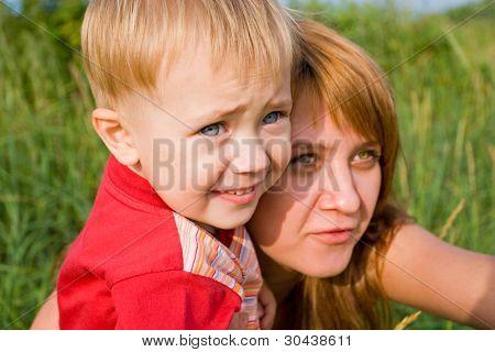 Mamá e hijo.