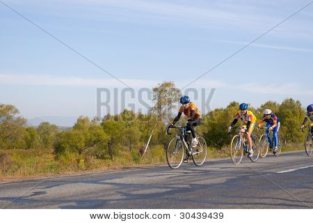 Competitions of young bicyclists.