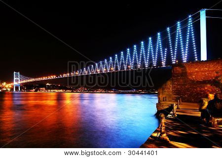 Istanbul Bosphorus Bridge in colors
