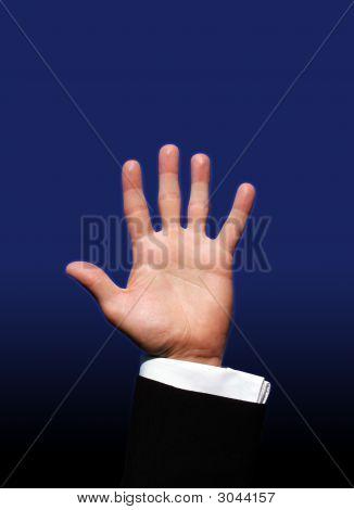 Hand Blue Back