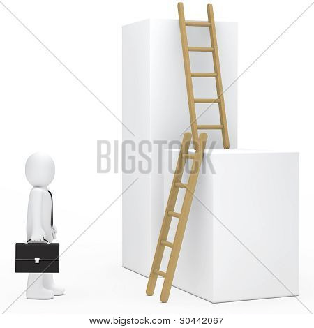 Businessman Stairs