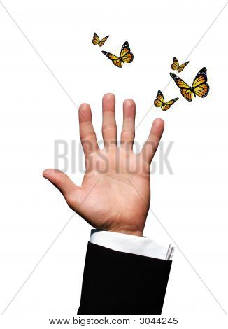 Hand With Butterflies