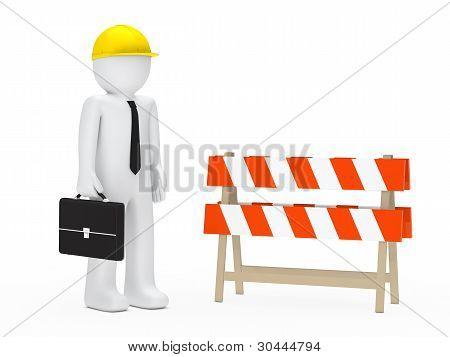 Businessman Barrier