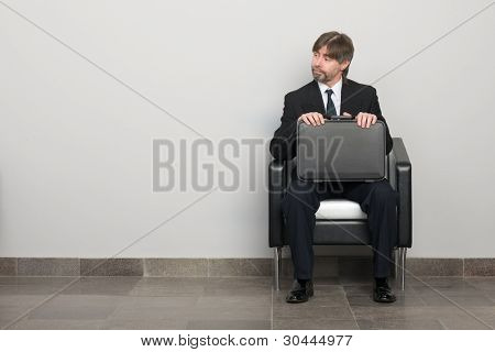 Businessman waiting for business meeting.