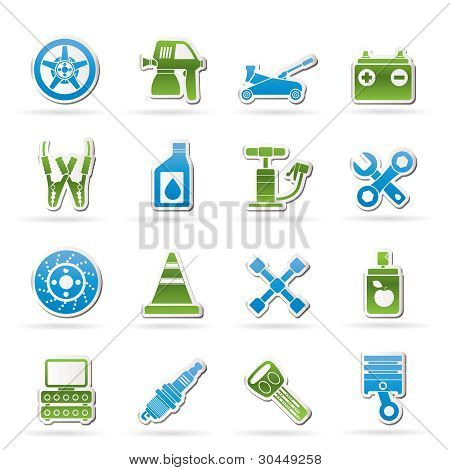 Transportation and car repair icons