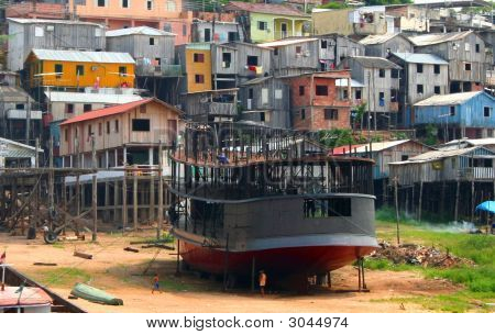 Amazon River Housing  Manaus  Brazil