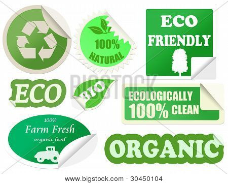 Set Of Organic Stickers