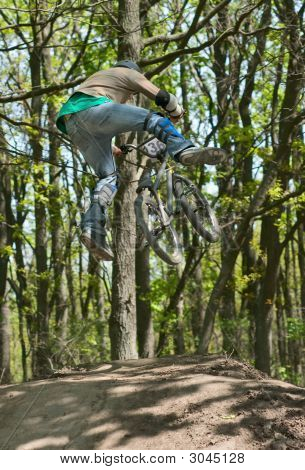 Dirt Jumping Cyclist