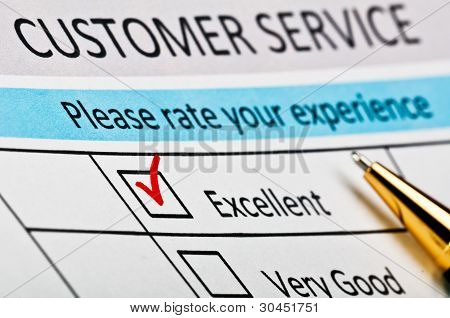 Customer Service Satisfaction Survey Form.