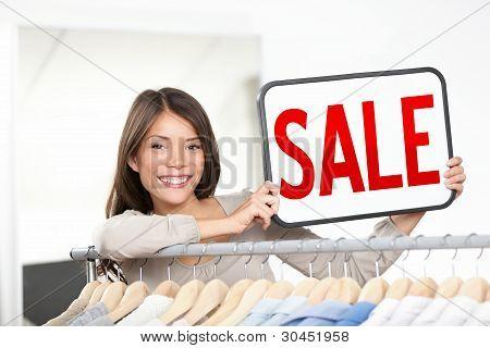 Shop Owner Sale Sign