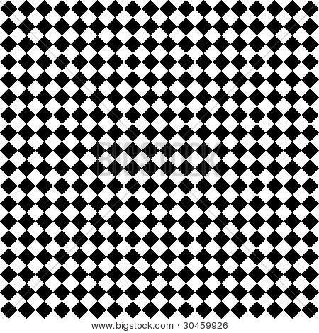 Black & White Diamond Checks