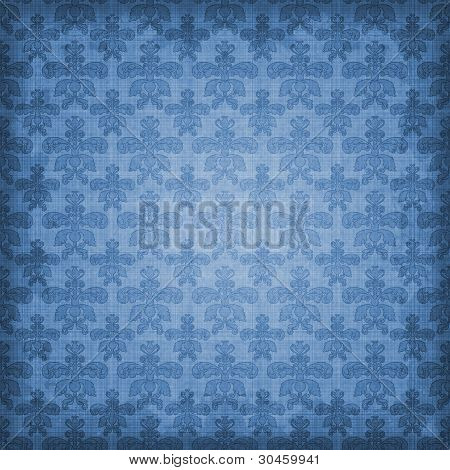 Shaded Blue Damask Background