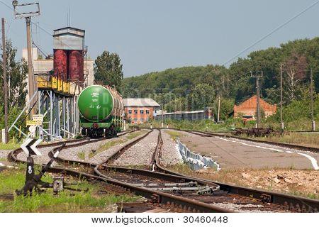 railway station oil terminal