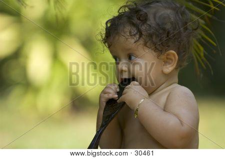 Infant In Garden 4