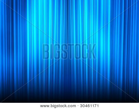 Beautiful Blue Velvet Curtains