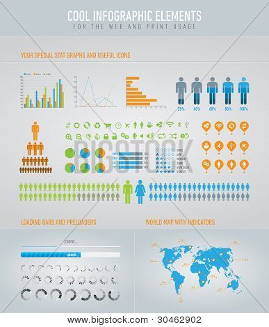 Cool Infographic Elements For The Web And Print Usage