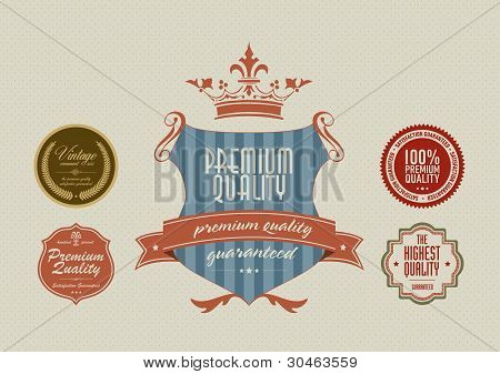 Vintage Styled Label Stickers