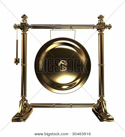 Gold gong