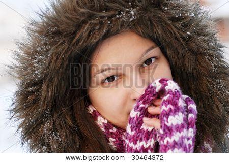 Smiling Girl In Hood