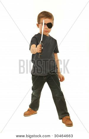 Pirate Boy With Toy Sword