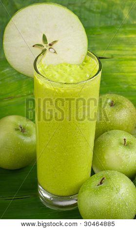 refreshing healthy yogurt apple smoothie milk shake