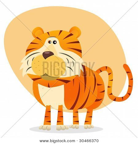 Cartoon Tiger