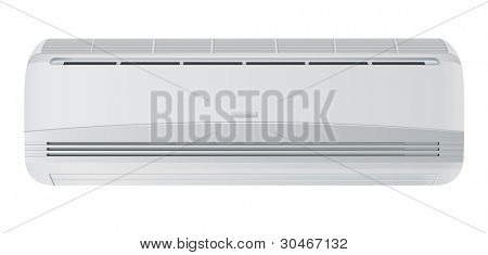 Air conditioner. Vector illustration isolated on white background