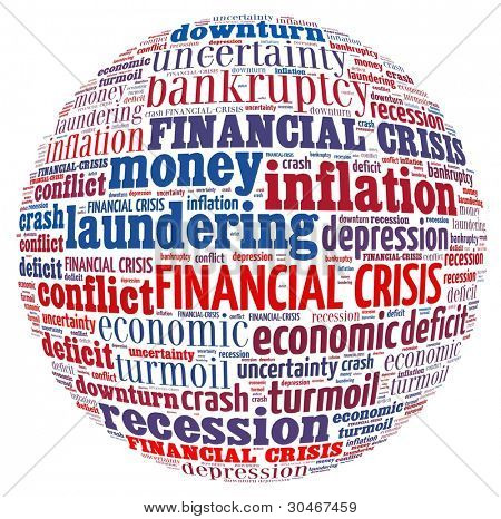 Financial Crisis Concept is word collage