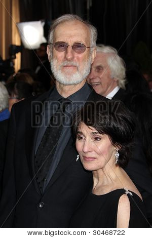 LOS ANGELES - FEB 26:  James Cromwell; Anna Stuart arrives at the 84th Academy Awards at the Hollywood & Highland Center on February 26, 2012 in Los Angeles, CA.