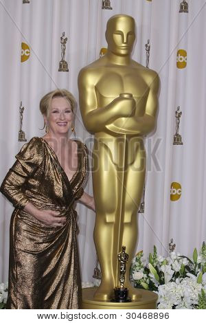 LOS ANGELES - FEB 26:  Meryl Streep in the Press Room at the 84th Academy Awards at the Hollywood & Highland Center on February 26, 2012 in Los Angeles, CA