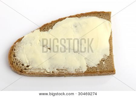 One Slice Of Bread With Butter