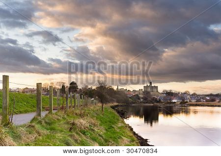 Clouds Over Warkworth Castle