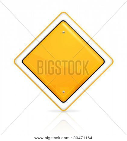 Priority road sign, vector