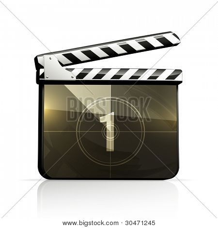 Movie clap, vector