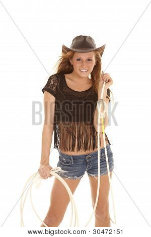 Cowgirl With Rope