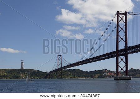 Bridge over Tejo river
