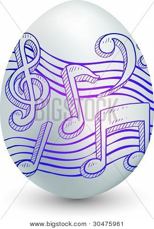 Music note egg