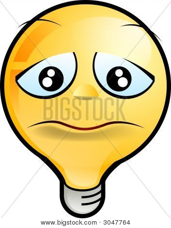 lighting bulb icon sad stock photo stock images bigstock. Black Bedroom Furniture Sets. Home Design Ideas