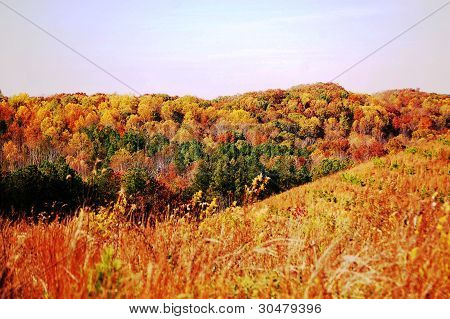 hills in the fall