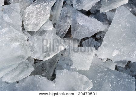 Detail Of Pieces Of Broken Ice