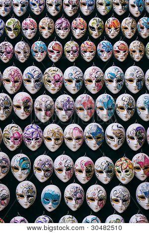 Miniature Venetian Carnival Masks