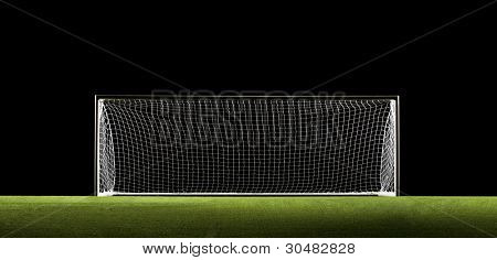 Wide Angle photo of Soccer Goal or Football Goal