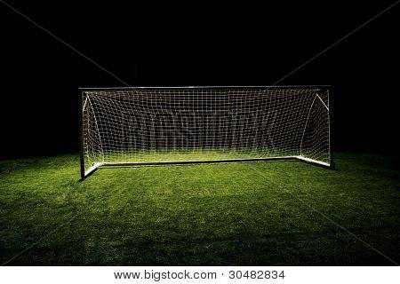 High angle photo of Soccer Goal or Football Goal