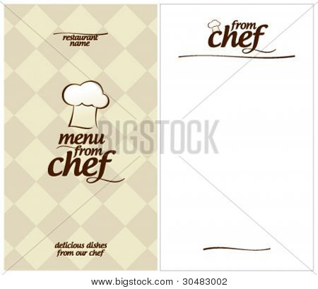 Special Menu from Chef Design template and the form for a list of dishes.