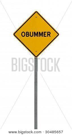 - Yellow road warning sign