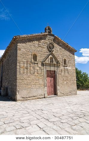 Igreja de St. Cataldo. Pietrapertosa. Basilicata. Itália.