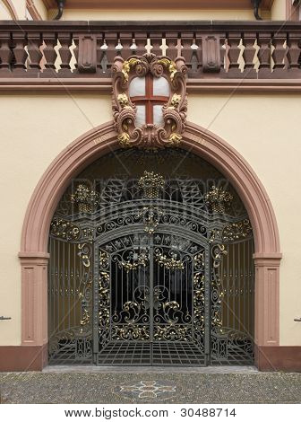 Decorative Gate In Freiburg
