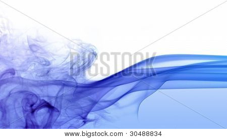 Abstract Blue Smoke Detail
